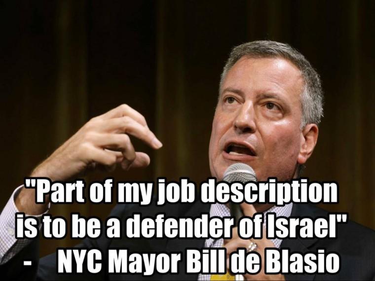 Bill de Blasio israel