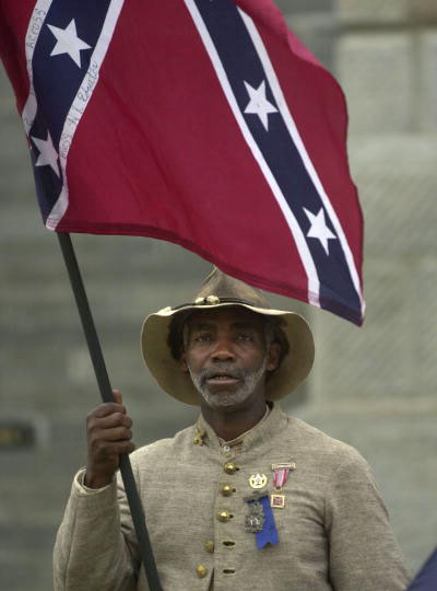 """""""I came to honor Strom Thurmond,"""" said 55-year-old H.K. Edgerton of Ashville, N.C.  (Takaaki Iwabu photo / The State)"""