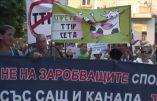 Bulgarie : manifestation contre le traité transatlantique (TTIP)