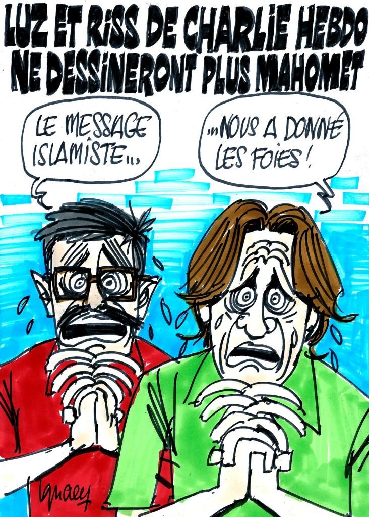 Ignace - Riss, de Charlie Hebdo, ne dessinera plus Mahomet