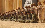 La mise en scène de l'Etat Islamique à Palmyre où des enfants tuent 25 soldats syriens