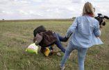 """Le terroriste islamiste, faux """"réfugié"""", avait ému la planète, victime du croc-en-jambe d'une journaliste hongroise… La vidéo l'a trahi"""