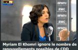 Myriam El Khomri ne connaît pas son CDD