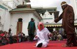 Quel rapport avec la Corse? En Indonésie flagellation publique d'une jeune étudiante