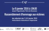 Etrange – Pourquoi le CRIF est-il l'organisateur du rassemblement d'hommage aux victimes des attentats de janvier 2015 ?