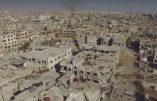Ce que les rebelles syriens, soutenus par les Occidentaux, ont fait de Damas…survol d'un champ de ruines
