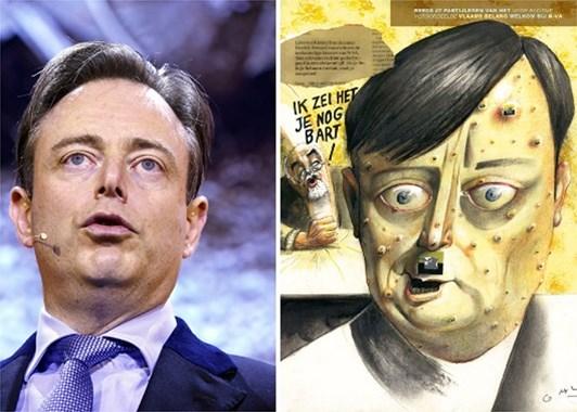 Bart De Wever, leader de la NVA (droite libérale en Flandre) n'échappe pas à la reductio ad Hitlerum dans la presse
