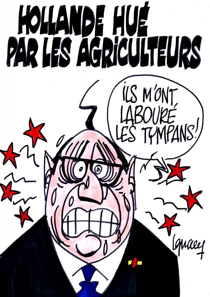 Ignace - Hollande hué par les agriculteurs