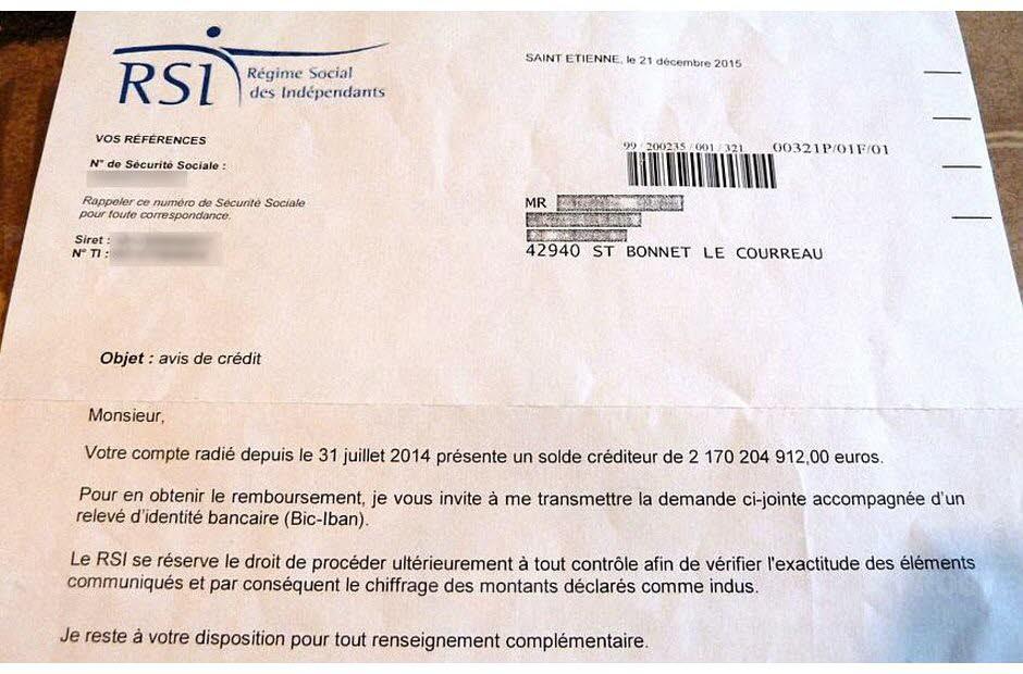 Le Rsi Ecrit A Un Retraite On Vous Doit 2 Milliards D Euros