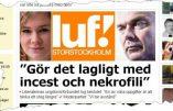 Les Jeunes Libéraux suédois veulent légaliser l'inceste et la nécrophilie !