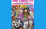 """Affiche antichrétienne pour la """"marche des fiertés LGBT"""""""