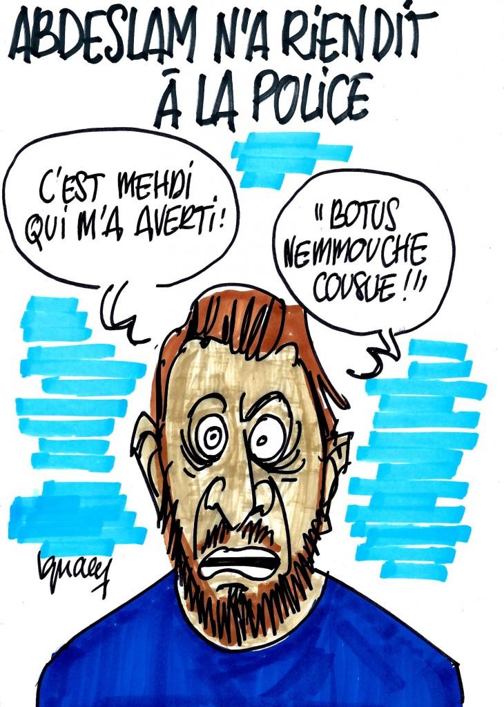 Ignace - Abdeslam n'a rien dit à la police