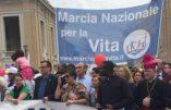 Marche pour la vie à Rome le 8 mai