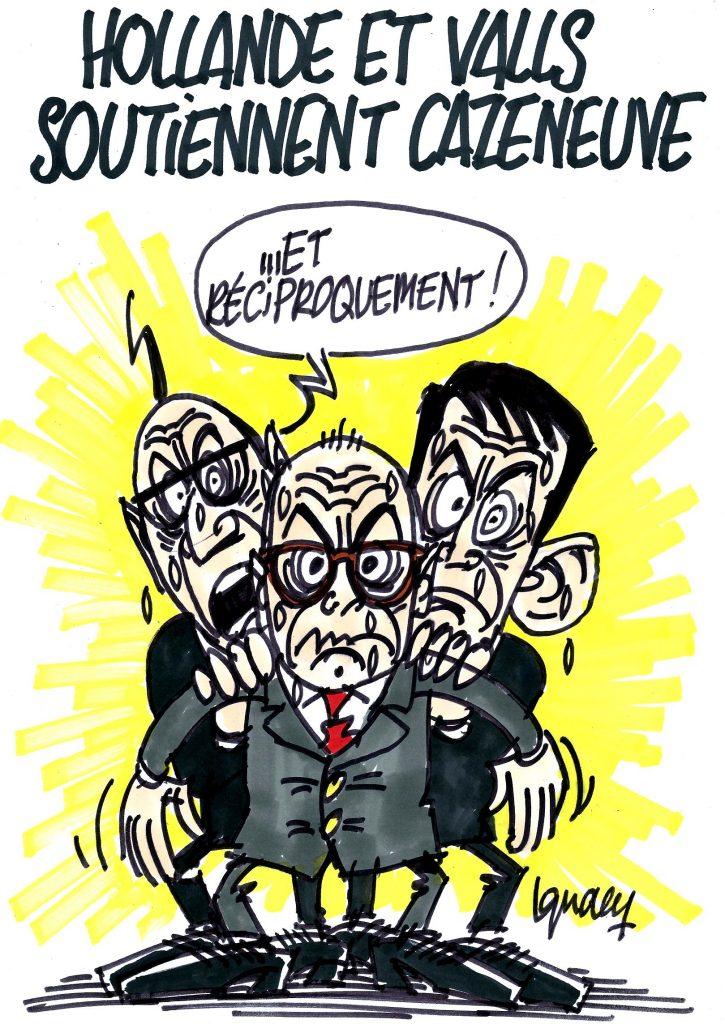 Ignace - Hollande et Valls soutiennent Cazeneuve