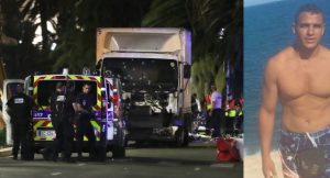 Police officers and rescue workers stand near a van that ploughed into a crowd leaving a fireworks display in the French Riviera town of Nice on July 14, 2016. The mayor of the French city of Nice said dozens of people were likely killed after a van rammed into a crowd marking Bastille Day in the French Riviera resort today and urged residents to stay indoors. / AFP / VALERY HACHE (Photo credit should read VALERY HACHE/AFP/Getty Images)