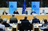 L'European Coalition for Israël au Parlement européen avec Katharina von Schnurbein à la tribune
