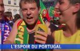 """Eurofoot- En direct sur I-Télé, un supporter s'écrie: """"Que la France gagne en 2017, que Valls termine en prison et Vive le Roi!"""" le tout assorti d'une quenelle! (Vidéo)"""