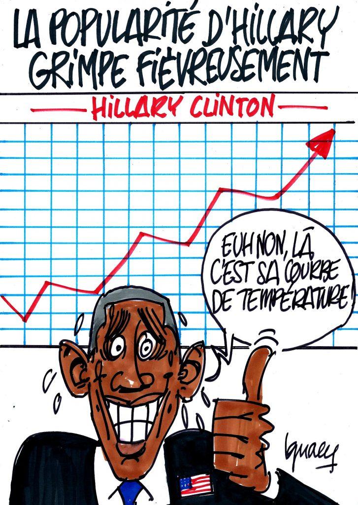 Ignace - Hillary grimpe en popularité