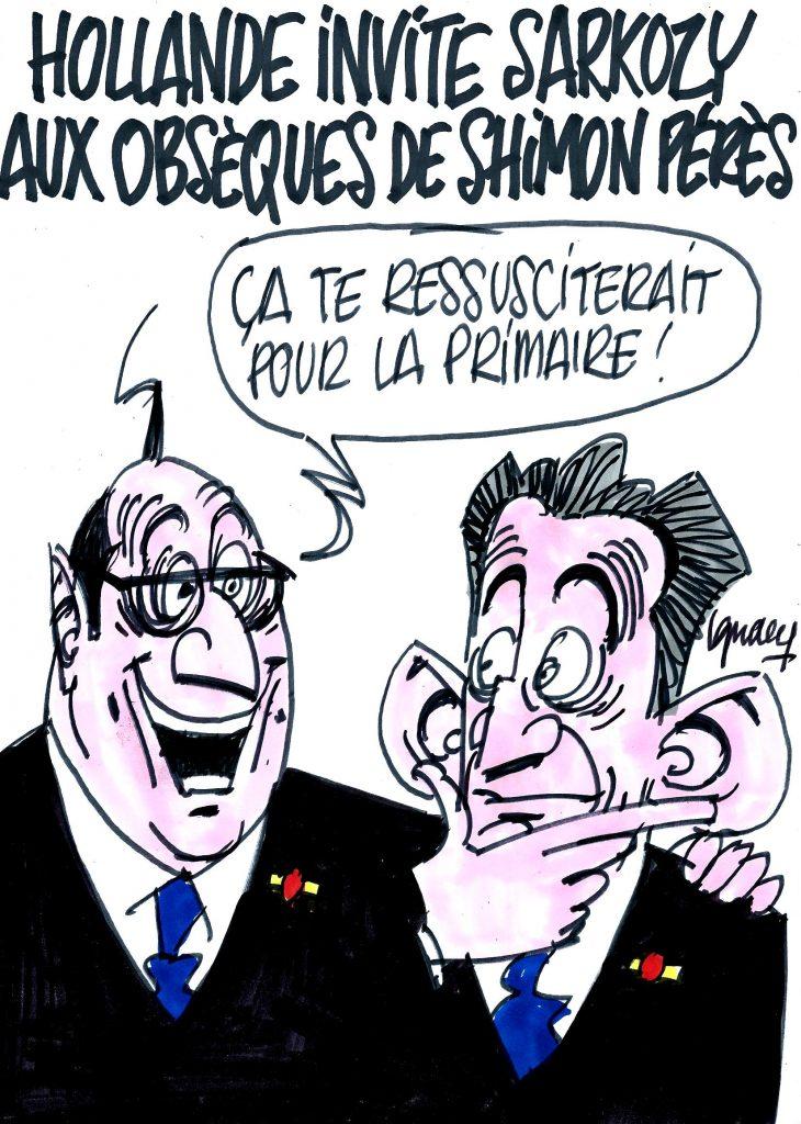 Ignace - Hollande invite Sarkozy aux obsèques de Pérès