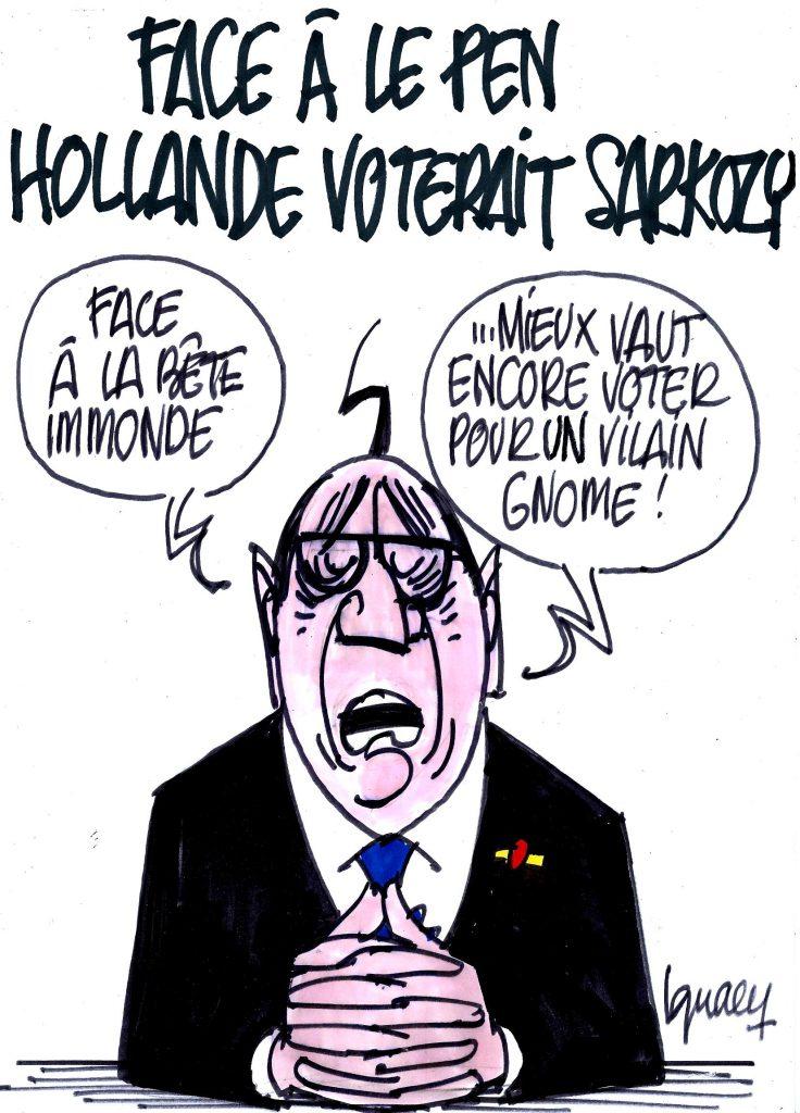 Ignace - Face à Le Pen, Hollande voterait Sarkozy