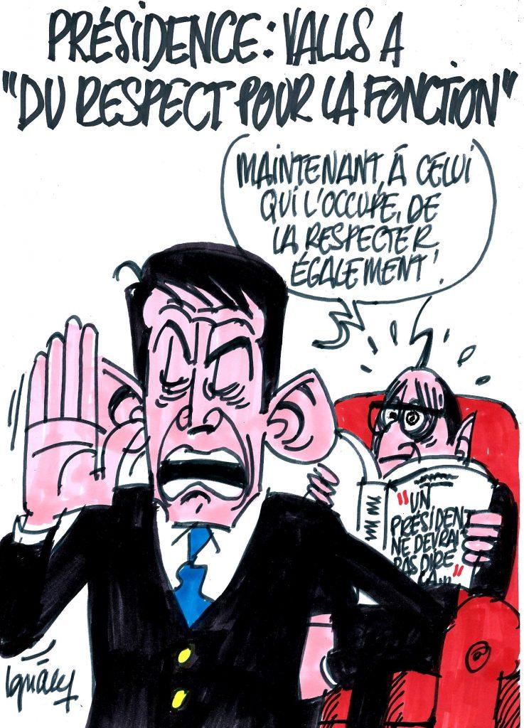 Ignace - Valls respectueux de la présidence