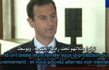 Bachar el-Assad sceptique sur l'aide de Trump en Syrie – Interview sous-titrée