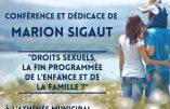 3 novembre 2016 à Bordeaux – conférence de Marion Sigaut : « Droits sexuels, la fin programmée de l'enfance et de la famille ? »