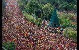 22 heures de procession catholique dans Manille