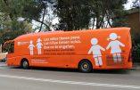 Un bus contre l'idéologie du genre devant le siège de l'ONU
