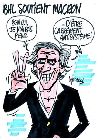 Ignace - BHL soutient Macron