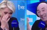 Quand Nicolas Canteloup fait pleurer de rire Marine Le Pen