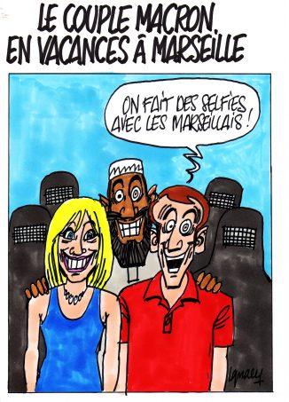 Ignace - Les Macron en vacances à Marseille