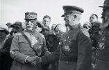 Le Maréchal Pétain et le Général US Pershing