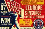 7 octobre 2017 à Lyon – Manifestation organisée par le Bastion Social