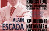 1er octobre 2017 – Alain Escada interviendra à la Journée de Synthèse Nationale