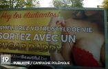 Bruxelles – Les autorités interdisent la campagne publicitaire incitant les étudiantes à se prostituer