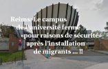 L'université de Reims fermée «pour raisons de sécurité» suite à l'installation d'immigrés clandestins