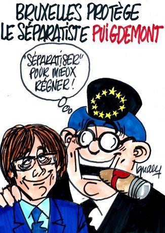 Ignace - Bruxelles protège le séparatiste Puigdemont
