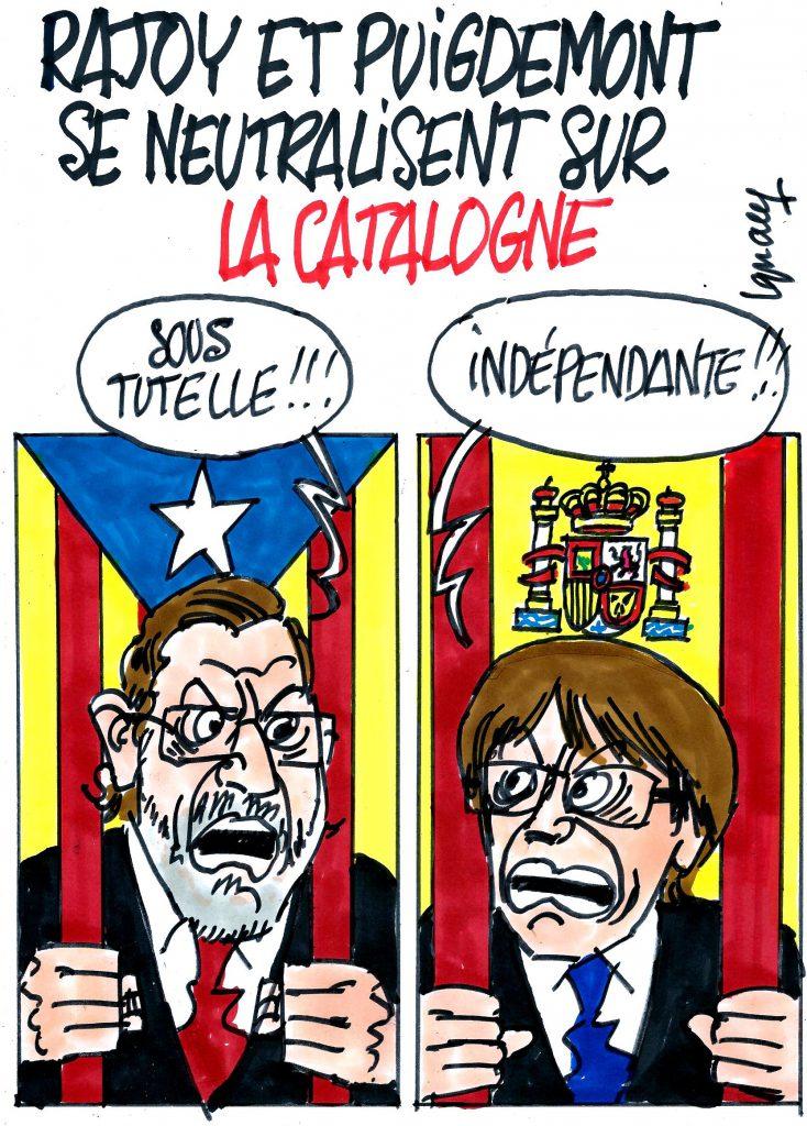 Ignace - Rajoy et Puigdemont se neutralisent