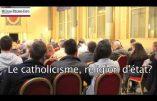 Michel Houellebecq envisage que le catholicisme redevienne religion d'Etat, un point essentiel du programme de Civitas…