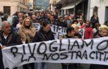A Vintimille, les habitants manifestent pour être débarrassés des immigrés