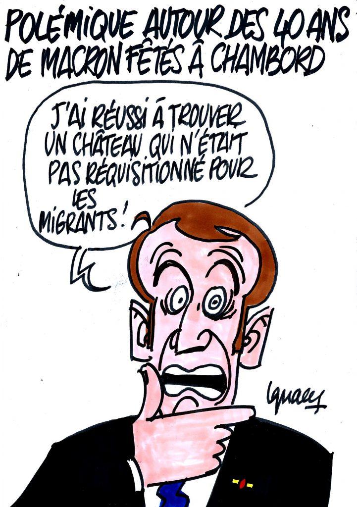 Ignace - Les 40 ans de Macron fêtés à Chambord
