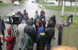 Rennes : la vermine rouge et noire attaque la Marche pour la Vie