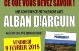 """Le 9 février 2018 à Vervins – Conférence """"Eoliennes, ce que vous devez savoir"""" par Alban d'Arguin"""