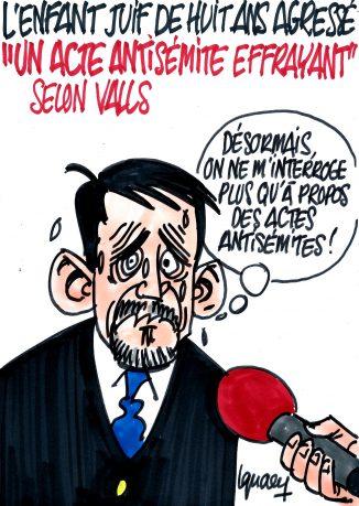 Ignace -Valls condamne l'agression de l'enfant portant une kippa