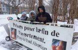 Campagne Québec-Vie contre les mesures pro-avortement et antichrétiennes de Justin Trudeau