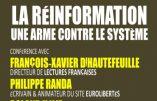 1er mars 2018 à Poitiers – Débat «La réinformation, une arme contre le système»