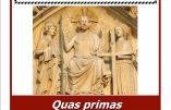 """12 février 2018 : conférence """"Quas Primas et le Christ-Roi"""""""