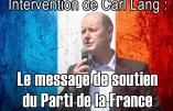 Venez écouter Carl Lang à la Fête du Pays Réel le samedi 24 mars 2018 à Rungis