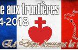 A Bernières-sur-Mer (Calvados), on prie le Rosaire aux Frontières ce samedi 28 avril